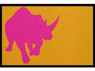 Fußmatte Tier Nashorn