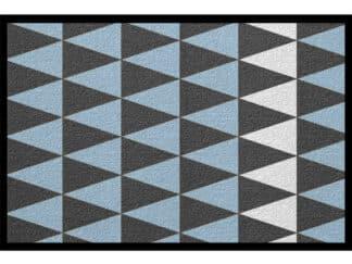 Fussmatte Muster Blau Nordic Design